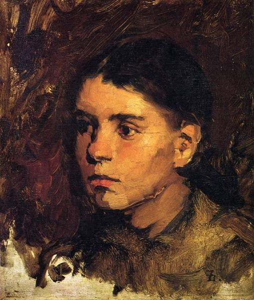 Frank Head of a Young Girl